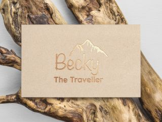 42droids Projects Becky The Traveller Logo Design
